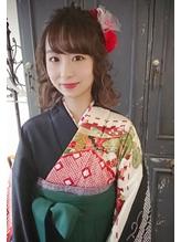袴でハーフアップ★.32