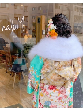 成人式 hair arrange