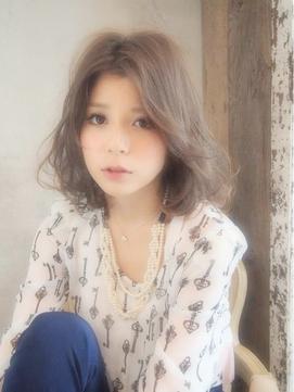 【Lien/渋谷】『センターバング×ミルクグレージュ』