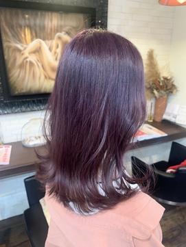 #パープルブラウン#紫カラー