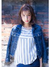 【新百合】丸みショート無造作カールボブディイルミナカラー40.25