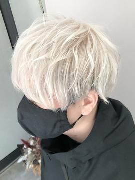 ホワイトアッシュ/シルバーアッシュ/シルバーカラー/MEN'S HAIR