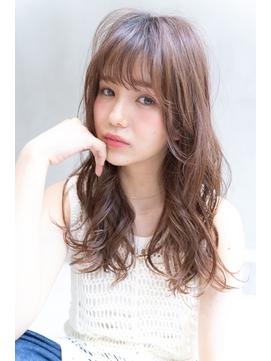 Lien☆小顔シースルーバング×ナチュラルピンクベージュ 立川