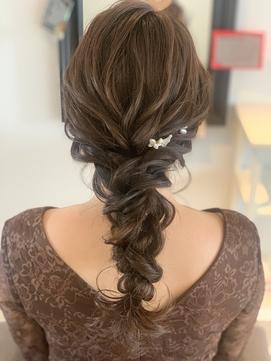 ドレスヘア  編みおろし 編み込み 結婚式 ブライダル