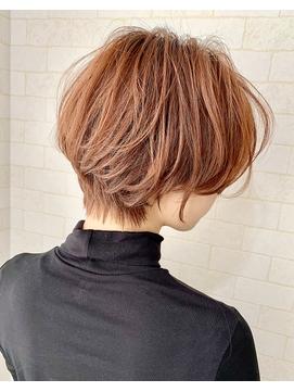 ピンクベージュ☆ショートヘア