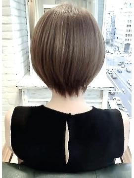 ☆  大人かわいい小顔ひし形ショートヘア 冬30代40代渋谷表参道