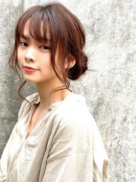 ヘアアレンジ アップスタイル シニオン パーティー 入学式