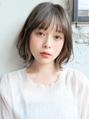 ◎大人かわいい/前髪/ココアブラウンフリンジウェーブフ艶カラー
