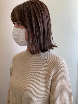 外ハネボブ/伸ばしかけ/ミディアムボブ【宮武穂有】