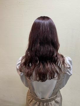 #暖色カラー#チェリーレッド#韓国風#ロングヘア