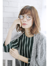 吉祥寺オン眉デザインカラー美髪切りっぱなしボブマッシュウルフ Oggi.46