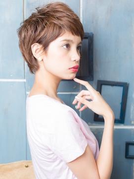 +animo大沢+透け感♪ピンクカラーのウルフボブg
