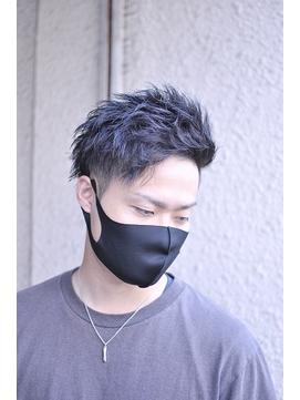 暗髪ゆるツイストアシメ風アップバングショート【BLAZE 大庭】