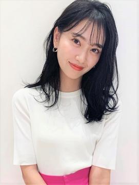 [K-two]シースルーバング 黒髪 似合わせカット[天王寺/阿倍野]