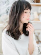 *mod's越谷*くせ毛風カールx黒髪の好感度セミディa.53