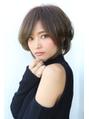 Soleil菊地/シャンパンベージュ大人かわいいショートボブ小顔