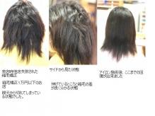このような状態のお髪もかけることが出来ます。