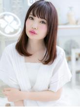 *mod's越谷*大人かわいい♪甘カラー♪斜めバングワンカールa.43
