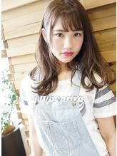 ★★★[エフォートレス]  モテるハニーヘア小顔斜めバング!★ モテ髪.39