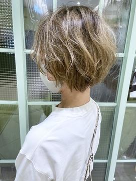 【morio下通】癖毛を生かしたゆるふわショート
