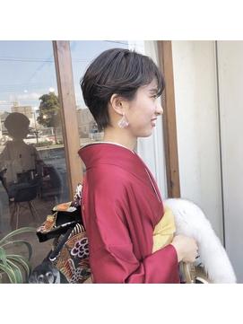 【lufun 森下】成人式×マニッシュショート×ハイライト