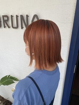 オレンジベージュ☆オレンジブラウン