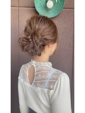 結婚式お呼ばれヘアセット【静岡/髪質改善/デザインカラー】