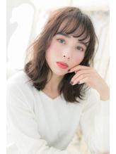 *mod's柏*…ボルドーカラー☆くせ毛風セミディa.47