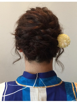 【振袖 留袖 袴 着物】成人式結婚式卒業式へアセットアレンジ