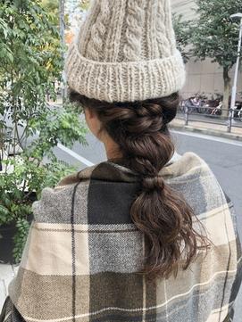 ニット帽の編みおろしアレンジ