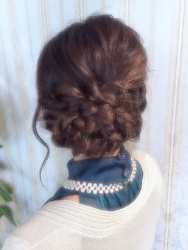 【miel hair blanc】編み込みナチュラルヘアセット♪