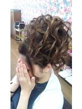 サイド寄せ盛り髪 盛り髪.50
