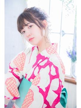 【Neolive plus】#浴衣#ヘアセット#お団子#アレンジ#花火大会