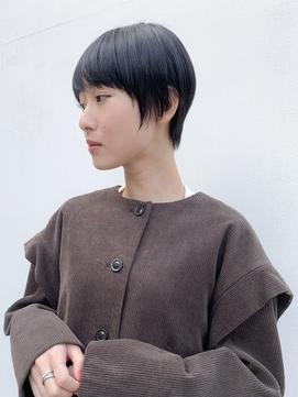 【yuka】暗髪、黒髪シンプルショート