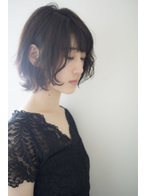 黒髪・暗髪でもオッケーふんわり大人ボブ【HANABUSA by afloat】 ママ.25