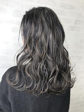 ハイライト×美髪ケア+黒髪ロング