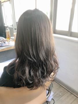 【髪色改善】白髪染めを使わない白髪染めで染めた透明感カラー