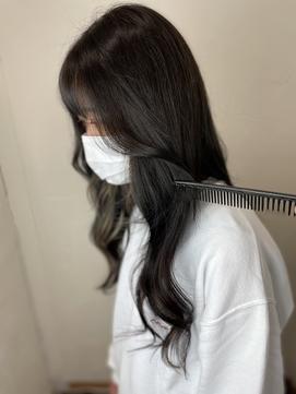 #インナーカラー #韓国 #フェイスフレーミング #黒髪ロング