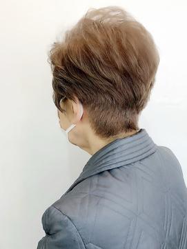 白髪をグレージュでヒラリークリントン風に#ミセス#白髪染め