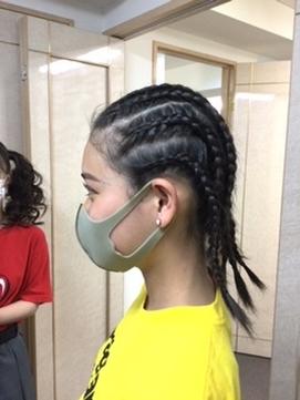 体育祭のヘアセット
