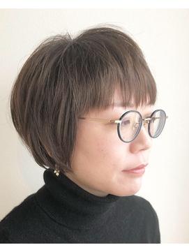 【ao hair garden】ショートボブ×オリーブグレージュ