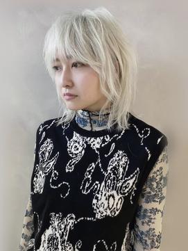 【ナカムラ_design】ホワイトブロンドウルフ