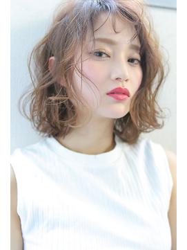 【Blanc/姫路】無造作ラフカール_くせ毛風ゆるパーマ_ボブ