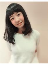 【morio池袋】黒髪セミシャグとショートバング 小学生.17
