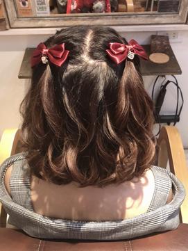 ヒプマイハーフツインテ ショートヘアでできるヘアセット