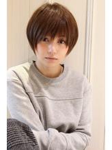 黒髪でも可愛く決まるひし形ショートボブ モテ.3
