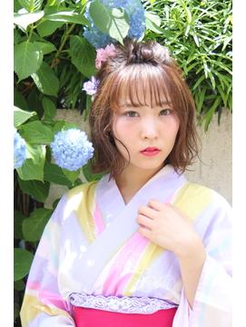 【ネオリーブ 登戸 チノ】花火大会 浴衣 アレンジで可愛く!!