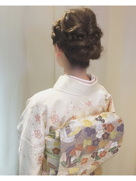 【下北沢*I'll b hair*】着物に似合う編み込みアレンジ