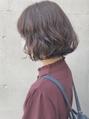 【emis】ショコラブラウンカラー ゆるふわボブパーマ 簡単可愛い
