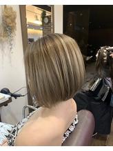 極細ハイライト+バレイヤージュ+髪質改善トリートメント.9